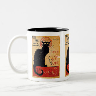"""Soon and the Black Cat Tour by Rodolphe Salis"" Two-Tone Mug"