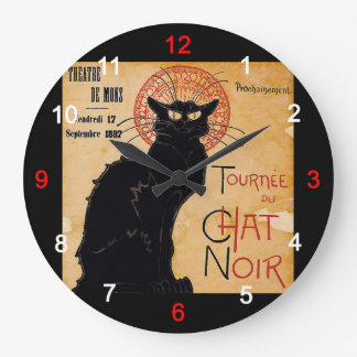 """Soon and the Black Cat Tour by Rodolphe Salis"" Wall Clocks"