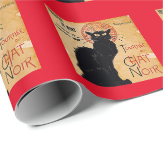 """Soon and the Black Cat Tour by Rodolphe Salis"" Wrapping Paper"