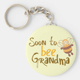 Soon to be Grandma Basic Round Button Key Ring