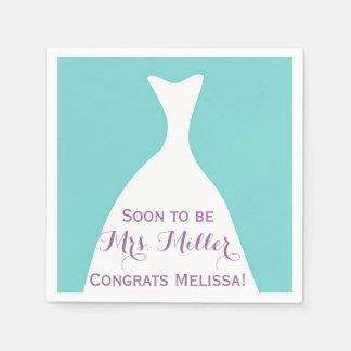Soon to be Mrs. Bridal Shower Napkins Disposable Napkins