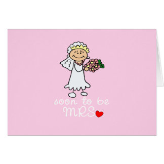 Soon to be MRS CUTE Stick Bride Greeting Card