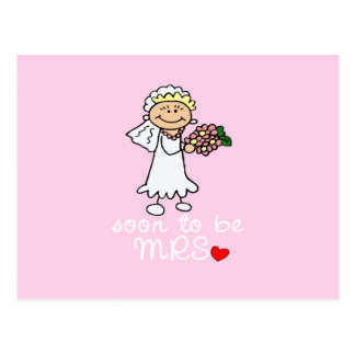 Soon to be MRS CUTE Stick Bride Postcard