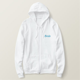 Soon to be... Mrs. Last Name Embroidered Hooded Sweatshirt