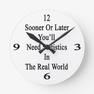 Sooner Or Later You'll Need Statistics In The Real Wallclock