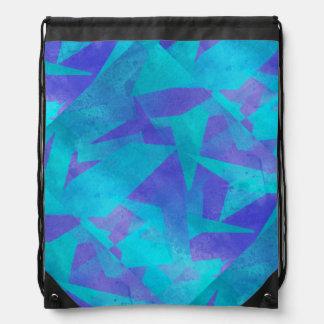 Soothing Colors Digital Abstract Drawstring Bag