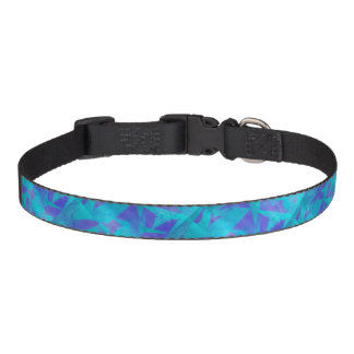 Soothing Colors Digital Abstract Pet Collar