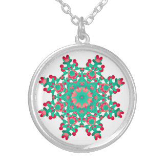*~* Soothing Mandala -Healing Energy via Anna Rosa Silver Plated Necklace