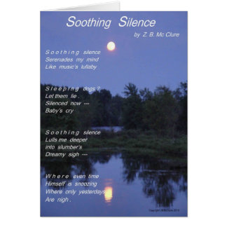 Soothing Silence Notecard Note Card
