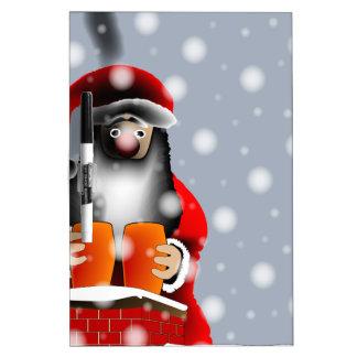 Sooty Santa Dry Erase Board