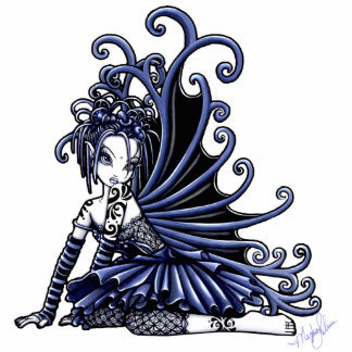 Sophia Cute Blue Tattoo Fairy Standing Photo Sculpture
