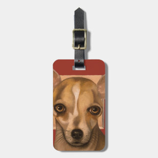 Sophia In Red Luggage Tag