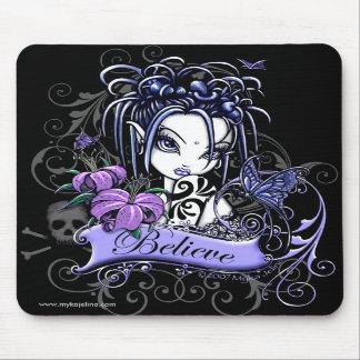 """""""Sophia Lilly"""" Believe Butterfly Fairy Mousepad"""