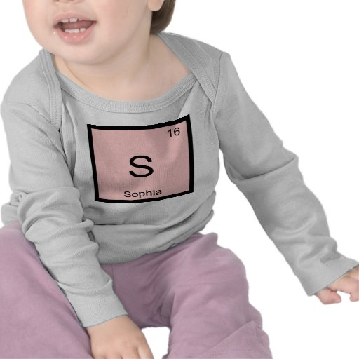 Sophia Name Chemistry Element Periodic Table Tee Shirt