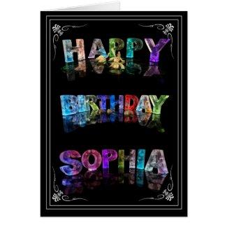 Sophia - Name in Lights greeting card (Photo)