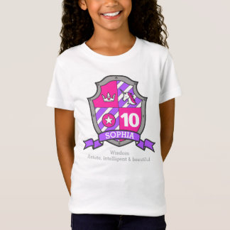 Sophia name meaning 10th birthday princess knight T-Shirt