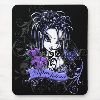 Sophia Purple Lilly Gothic Tattoo Faery Butterfly Mouse Mat