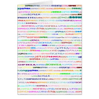 Sophia Text Design II Vertical Greeting Card