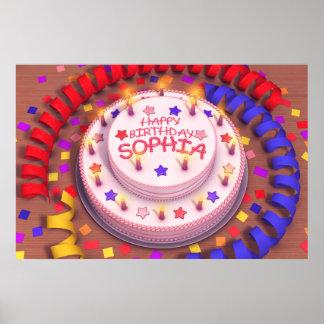 Sophia's Birthday Cake Posters