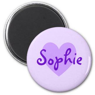 Sophie in Purple 6 Cm Round Magnet