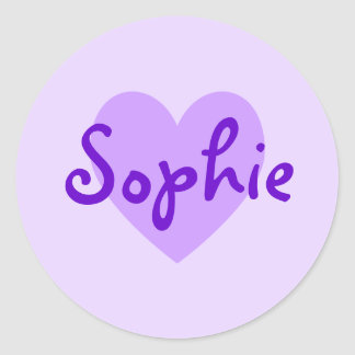 Sophie in Purple Classic Round Sticker