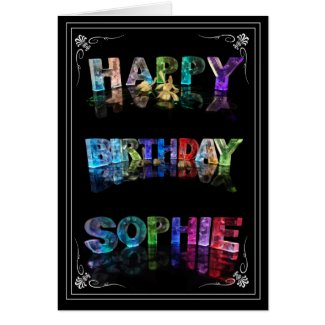 Sophie - Name in Lights greeting card (Photo)