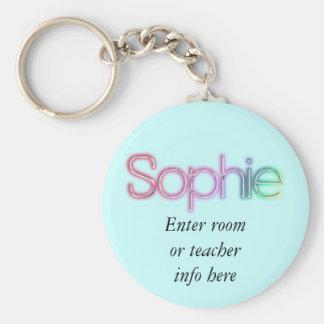 Sophie Name tag Key Chain