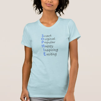 Sophie - Personalized Blue Acrostic with Virtues T-Shirt