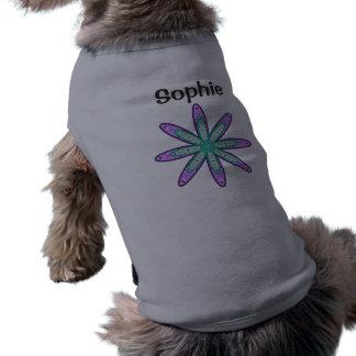 SOPHIE Personalized Kaleidoscope Floral Dog Sweate Dog Tee Shirt