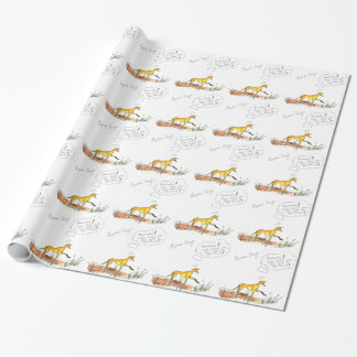 Sophie Says ... Paw Mud Wrapping Paper