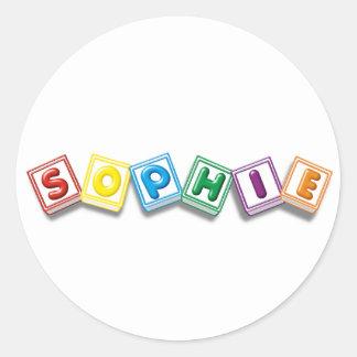Sophie Round Stickers
