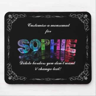 Sophie - The Name Sophie in 3D Lights (Photograph Mouse Mats