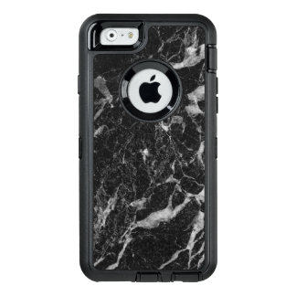 Sophisticated Black Marble Abstract Pattern OtterBox Defender iPhone Case