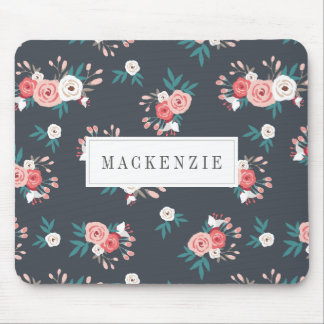 Sophisticated Botanical Personalized Mouse Mat