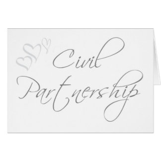 Sophisticated Civil Partnership Invitation Greeting Card