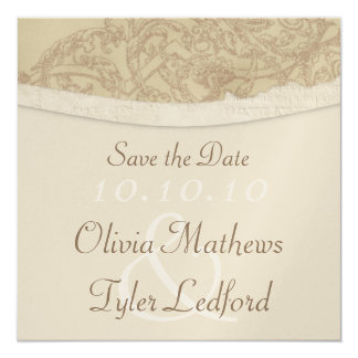Sophisticated Damask Save the Date 13 Cm X 13 Cm Square Invitation Card