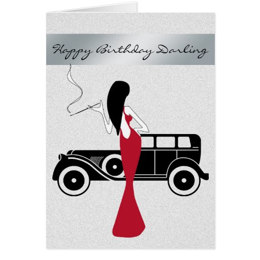 Sophisticated Elegant Chic Woman Happy Birthday Cards