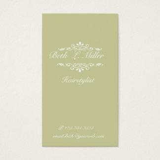 Sophisticated Elegant Modern Floral Business Card