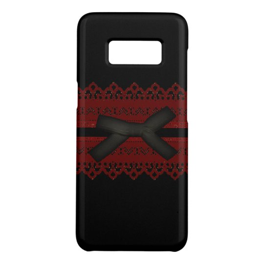 Sophisticated Gothic Black Red Lace Case-Mate Samsung Galaxy S8 Case