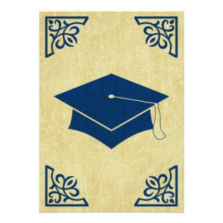 sophisticated graduation cap announcement