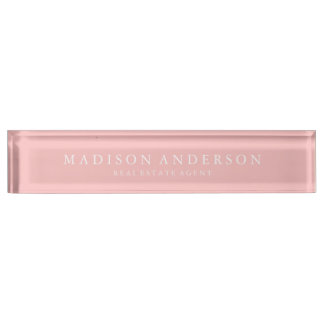 Sophisticated in Ballerina Pink | Desk Name Plate