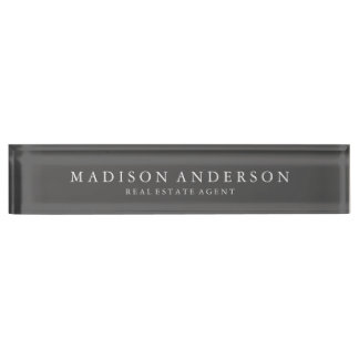 Sophisticated in Slate | Desk Name Plate