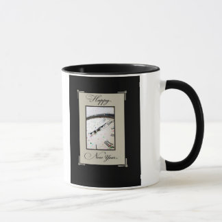 Sophisticated New Year's Eve, Black and Tan Mug