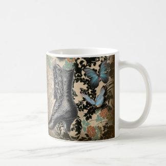 Sophisticated Paris lace shoe butterfly Mug