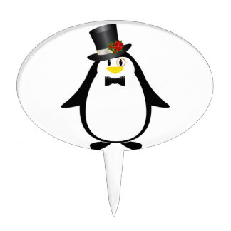 Sophisticated Penguin Cake Topper