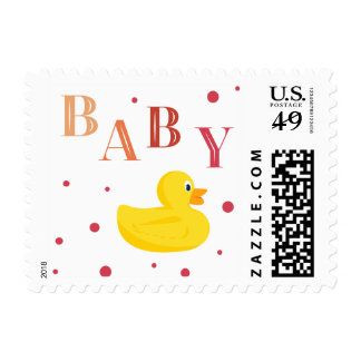 Sophisticated Rubber Duck Baby Postage Stamps
