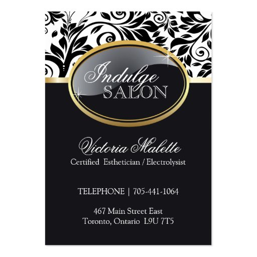 Sophisticated Salon and Spa Appointment Card Business Card