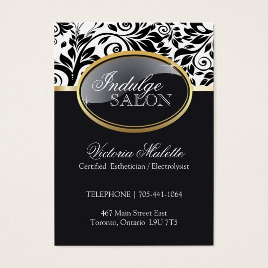 Sophisticated Salon Business Card Template