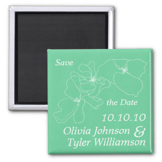 Sophisticated Save the Date Square Magnet