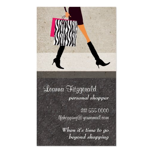 Sophisticated Shopper Business Card